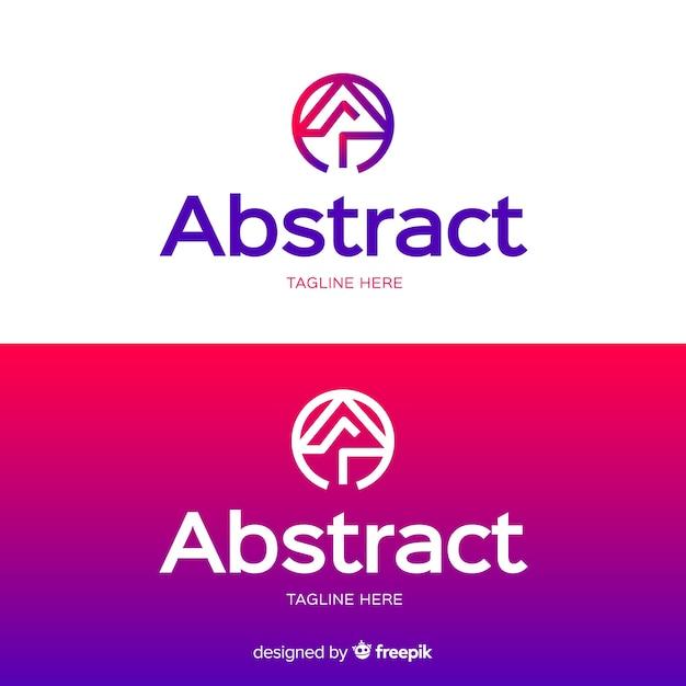 Modèle de logo abstrait pour fond clair et foncé Vecteur gratuit