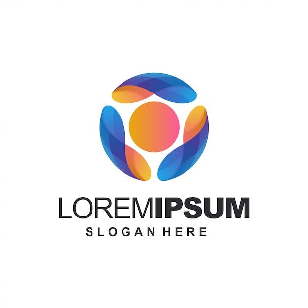 Modèle de logo abstrait tech Vecteur Premium