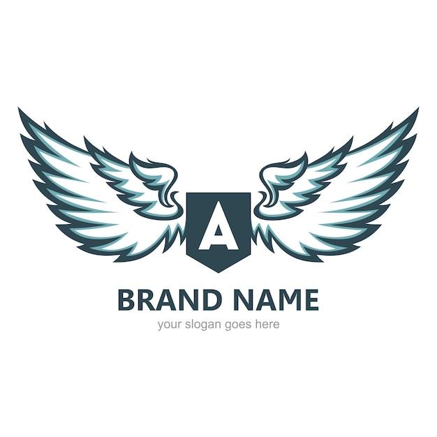 Modèle De Logo Ailes Vecteur Premium