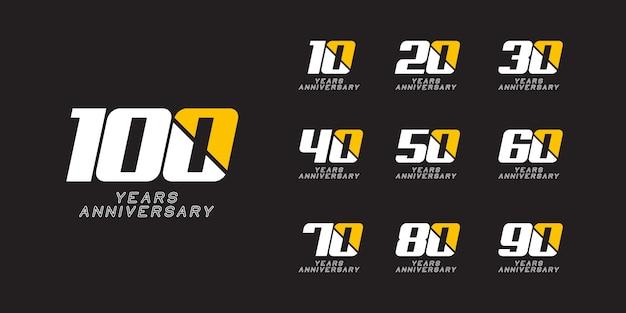 Modèle De Logo Anniversaire 100 Ans Vecteur Premium
