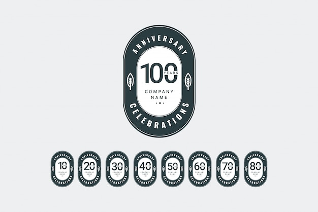 Modèle De Logo Anniversaire. Concevez Pour Votre Célébration. Conception Pour Publicité, Affiche, Bannière Ou Impression. Vecteur Premium