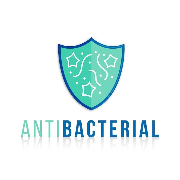 Modèle De Logo Antibactérien Vecteur gratuit