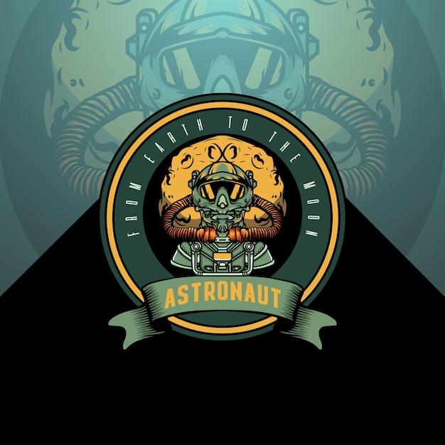Modèle De Logo Astronaute Vecteur Premium