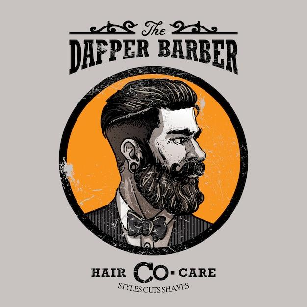 Modèle de logo barbershop Vecteur Premium