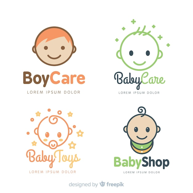 Modèle de logo bébé Vecteur gratuit