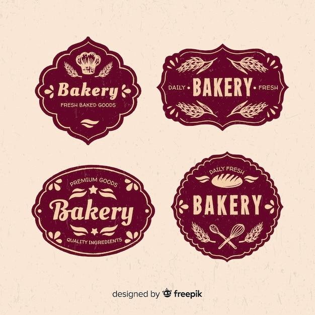 Modèle de logo de boulangerie vintage Vecteur gratuit