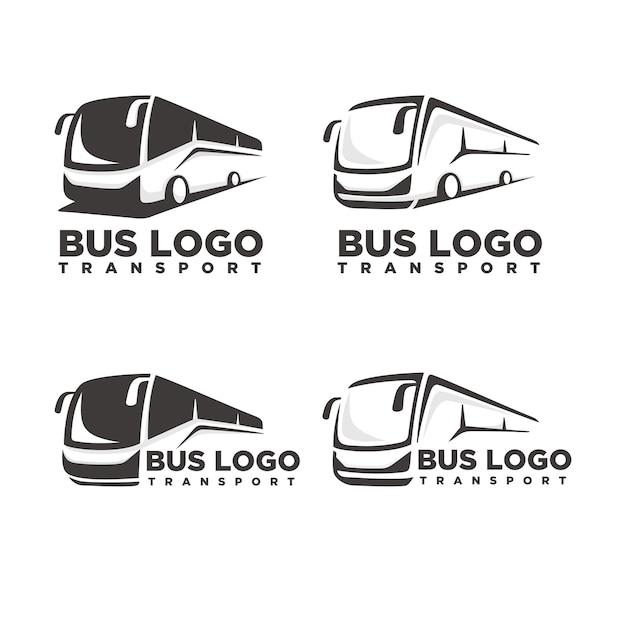Modèle de logo de bus Vecteur Premium
