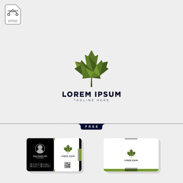Modele De Logo Cannabis Et Conception Carte Visite