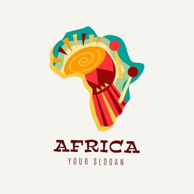 Modèle De Logo De Carte Africaine Colorée Vecteur gratuit