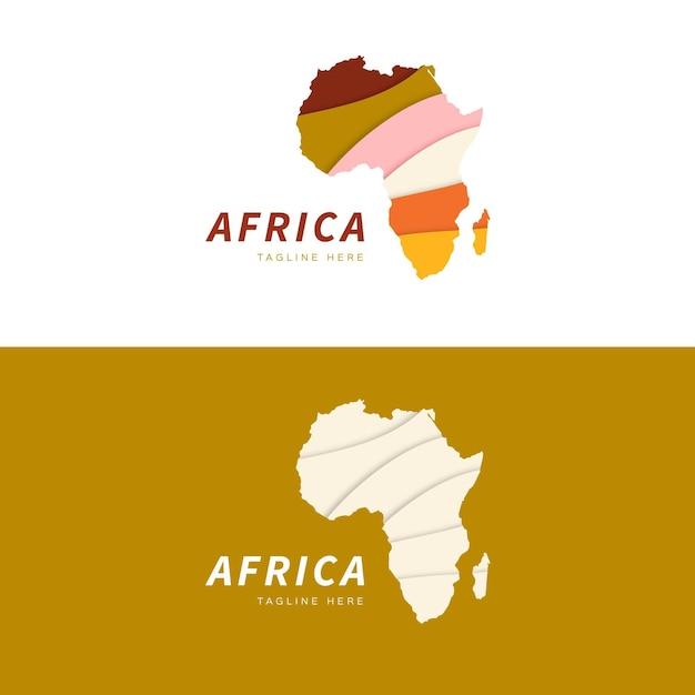 Modèle De Logo De Carte Afrique Vecteur Premium