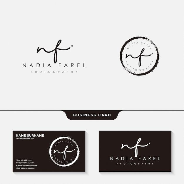 Modèle de logo ou de carte de visite Vecteur Premium