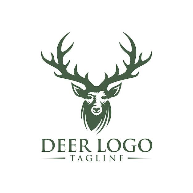 Modèle de logo de cerf Vecteur Premium