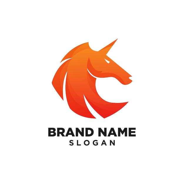 Modèle de logo de cheval inspiration de conception Vecteur Premium