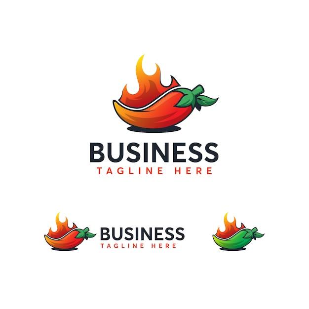 Modèle de logo chili Vecteur Premium