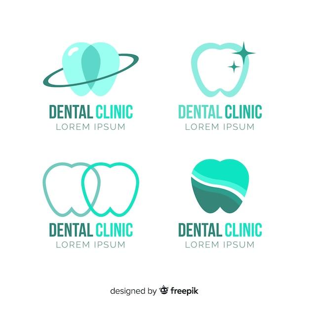 Modèle de logo de clinique dentaire Vecteur gratuit