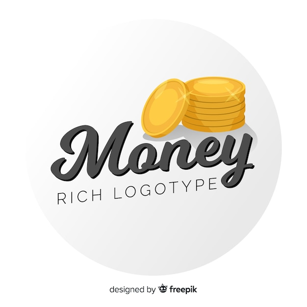 Modèle de logo de concept d'argent Vecteur gratuit