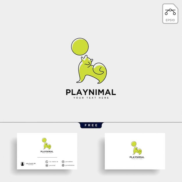 Modèle de logo de consultation de soins pour animaux de compagnie Vecteur Premium