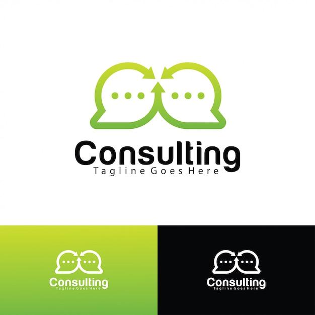 Modèle de logo de consultation Vecteur Premium