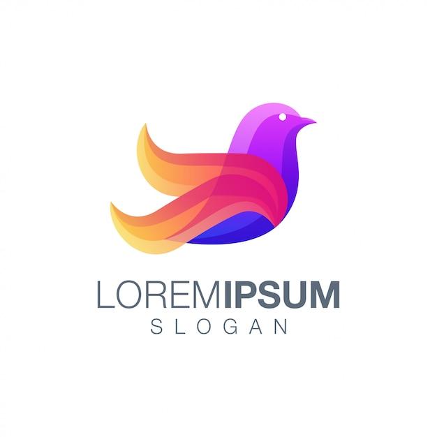 Modèle De Logo Couleur Oiseau Vecteur Premium
