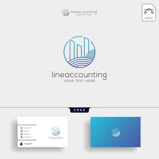 Modèle de logo créatif comptabilité finance isolé Vecteur Premium