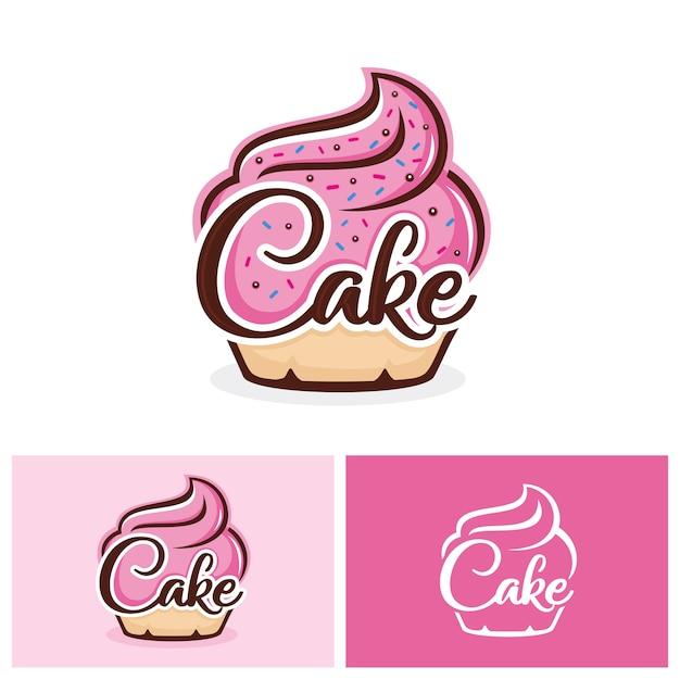 Modèle De Logo Cupcake Vecteur Premium