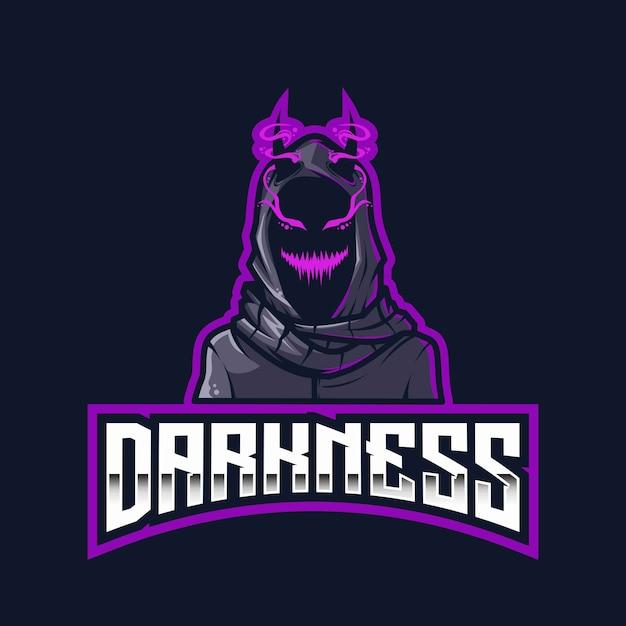 Modèle De Logo Darkness Esport Vecteur Premium
