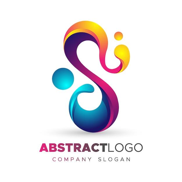 Modèle De Logo Dégradé Avec Forme Abstraite Vecteur Premium
