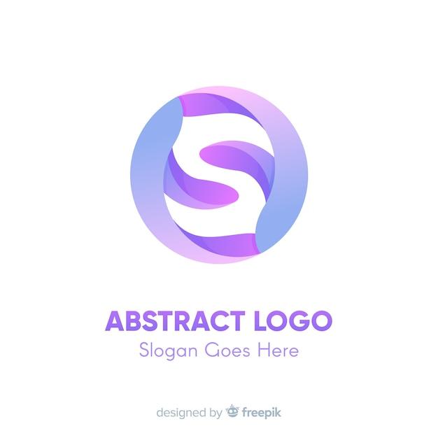Modèle de logo dégradé avec forme abstraite Vecteur gratuit