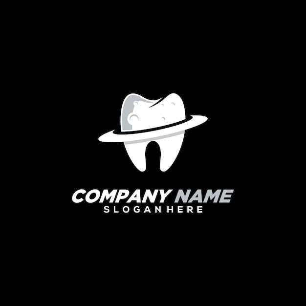 Modèle De Logo Dentaire Planète Moderne Vecteur Premium