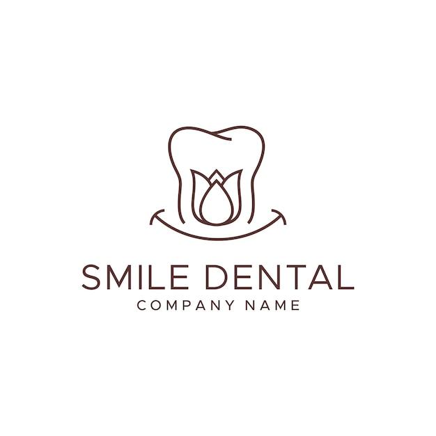 Modèle de logo dentaire Vecteur Premium