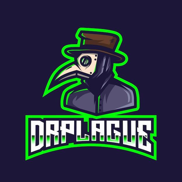 Modèle De Logo Dr Plague Esport Vecteur Premium