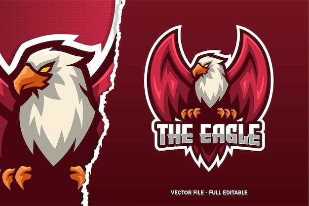 Le Modèle De Logo Du Jeu Eagle E-sport Vecteur Premium