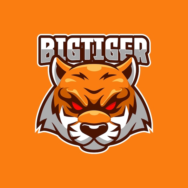 Modèle De Logo E-sport Big Tiger Vecteur Premium