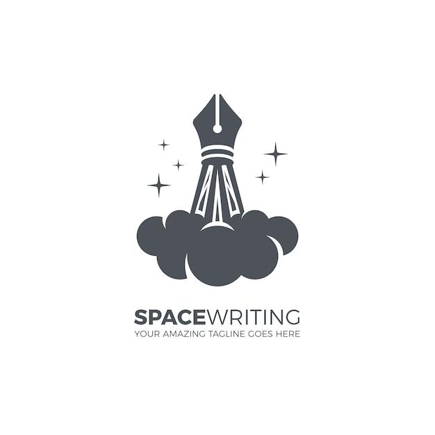 Modèle De Logo D'écriture Créative Vecteur gratuit