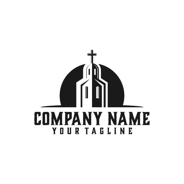 Modèle de logo d'église Vecteur Premium