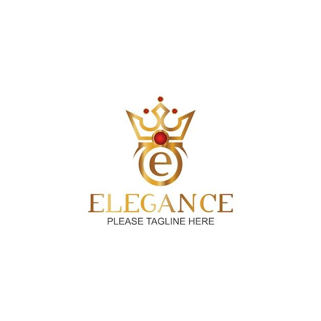 Modèle de logo d'élégance Vecteur Premium