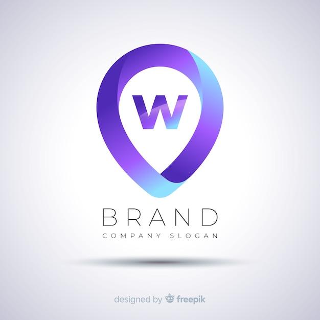 Modèle de logo d'entreprise abstrait dégradé Vecteur gratuit