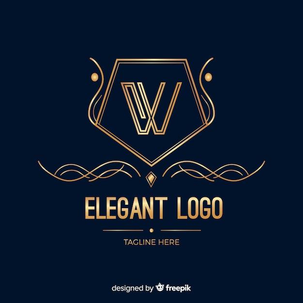 Modèle de logo d'entreprise élégant doré Vecteur gratuit