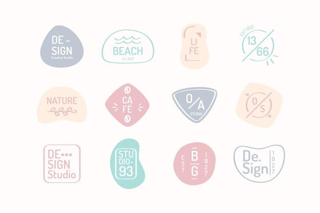 Modèle de logo d'entreprise tons de couleurs pastel Vecteur gratuit