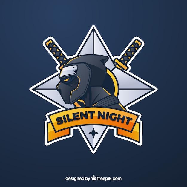 Modèle De Logo équipe E-sport Avec Ninja Vecteur gratuit