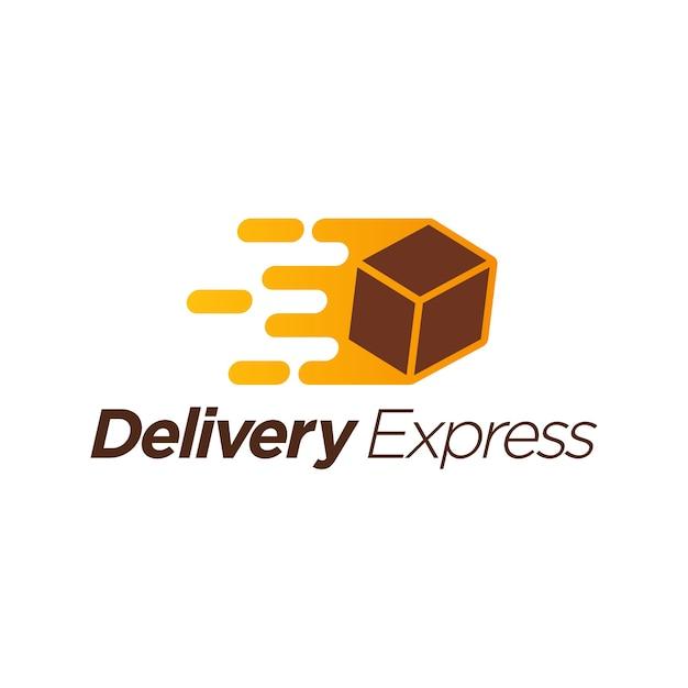 Modèle de logo express de livraison Vecteur Premium