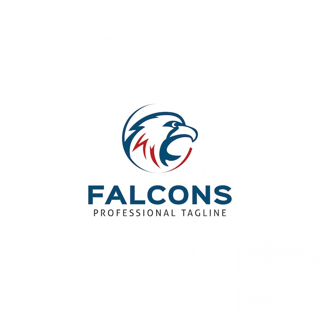 Modèle de logo falcons Vecteur Premium