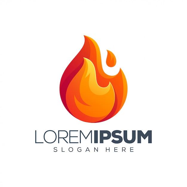 Modèle De Logo De Feu Vecteur Premium