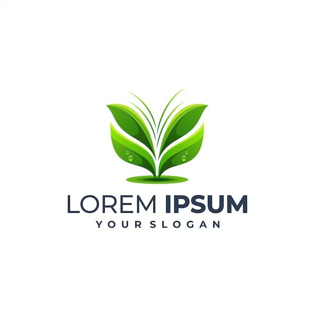 Modèle De Logo Feuille Vecteur Premium