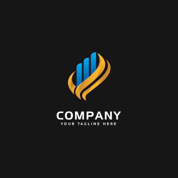 Modèle de logo finance moderne Vecteur Premium