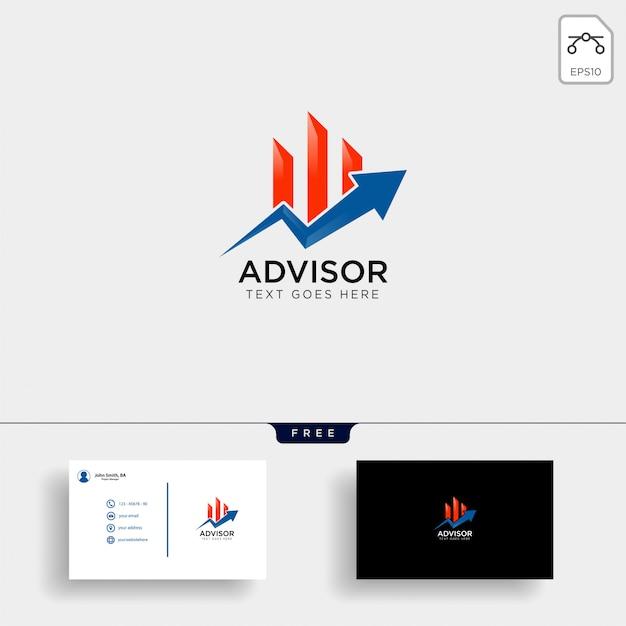 Modele De Logo Financier Et Carte Visite