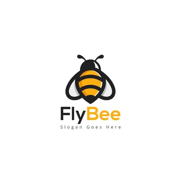 Modèle De Logo Fly Bee Vecteur Premium