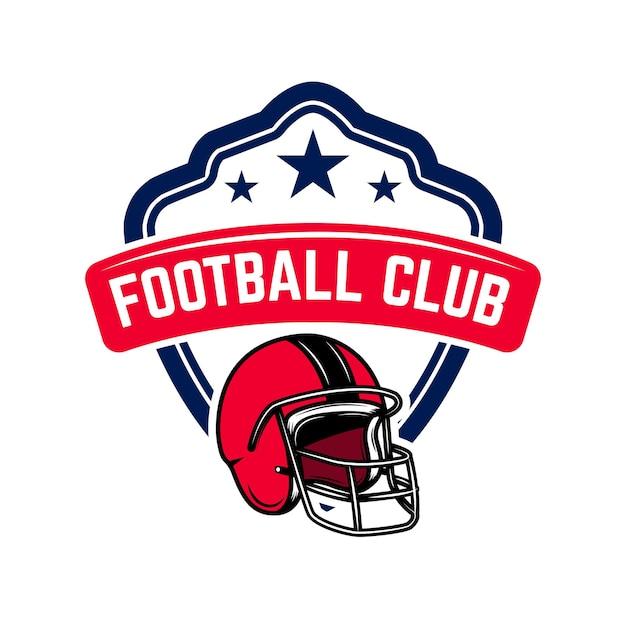 Modèle De Logo De Football Américain. Vecteur Premium