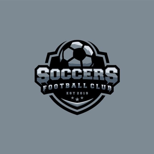 Modèle de logo de football Vecteur Premium