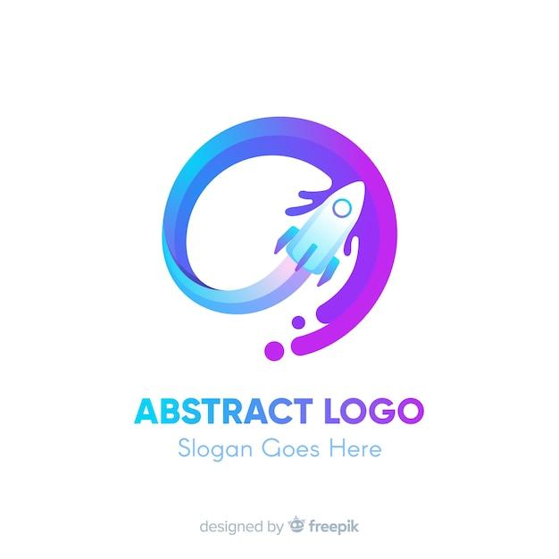 Modèle De Logo Avec Des Formes Abstraites Vecteur Premium